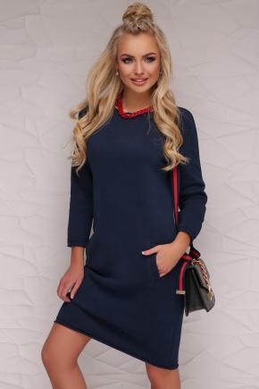 платье Глория д/р. Цвет: синий