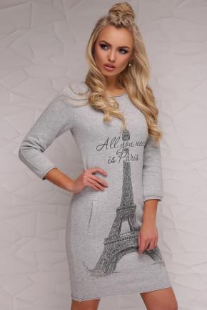 платье Глория д/р. Цвет: серый меланж