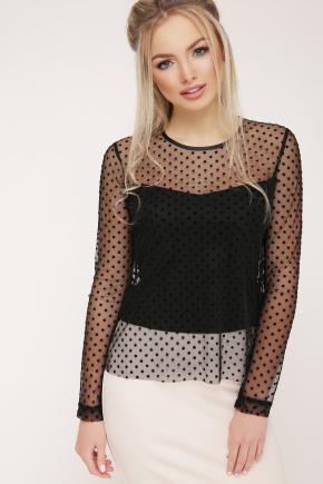 блуза Амалия д/р. Цвет: черный