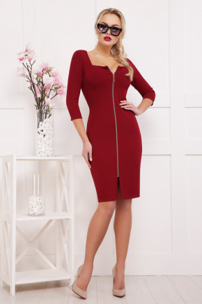 платье Дафни д/р. Цвет: бордо