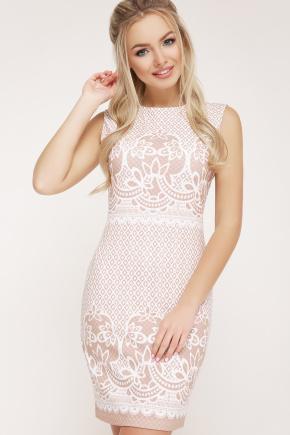 Узор капучино платье Лейла б/р. Цвет: белый