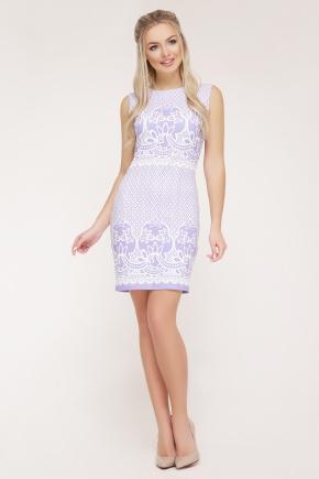 Узор лаванда платье Лейла б/р. Цвет: белый