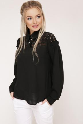 блуза Джустина д/р. Цвет: черный