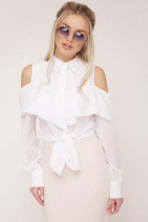 блуза Джанина д/р. Цвет: белый