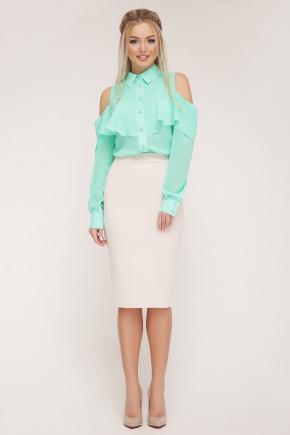 блуза Джанина д/р. Цвет: мята