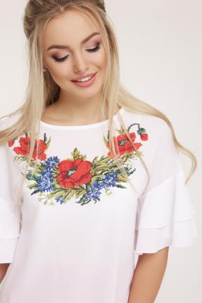 Маки блуза Мирабель-П к/р. Цвет: белый