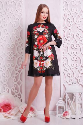 Букет маки платье Тая-3КК д/р. Цвет: принт