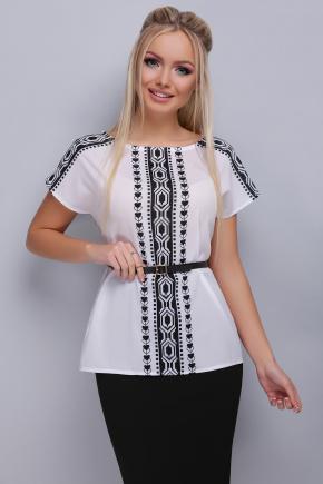 Орнамент черный блуза Мира б/р. Цвет: принт