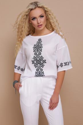 Орнамент черный блуза Мирана к/р. Цвет: принт