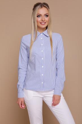 блуза Рубьера д/р. Цвет: синяя м. полоска