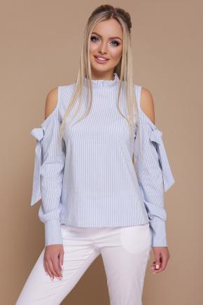 блуза Варвара д/р. Цвет: голубая м.полоска