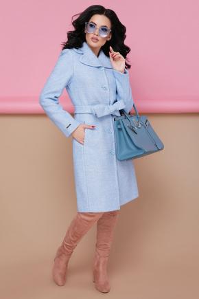 пальто П-319. Цвет: 1308-голубой