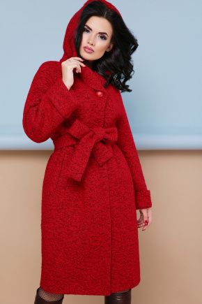 пальто П-304-100. Цвет: 1407-красный