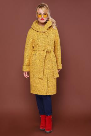 пальто П-304-100. Цвет: 1406-желтый