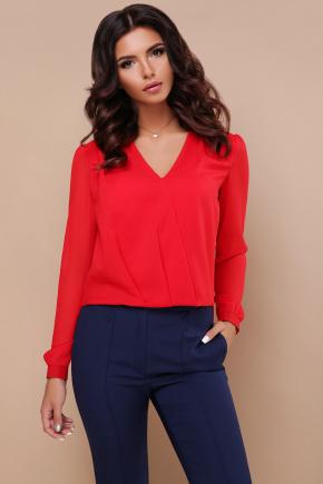 блуза Айлин д/р. Цвет: красный