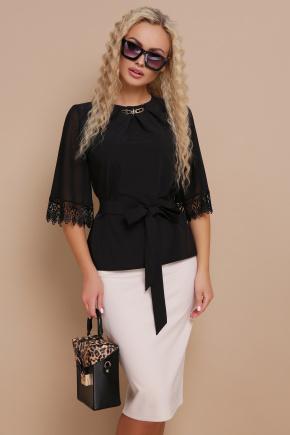 блуза Карла д/р. Цвет: черный
