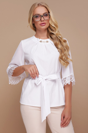 блуза Карла-Б д/р. Цвет: белый