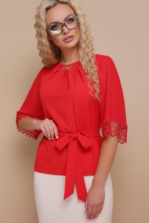 блуза Карла д/р. Цвет: красный