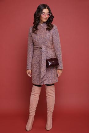 пальто П-308. Цвет: 1208-розовый