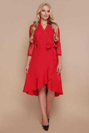 платье Алеся-Б д/р. Цвет: красный