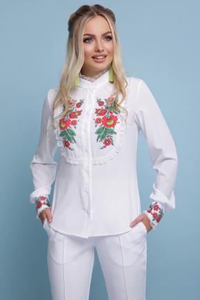 Петриковская красная блуза Дарина д/р. Цвет: белый