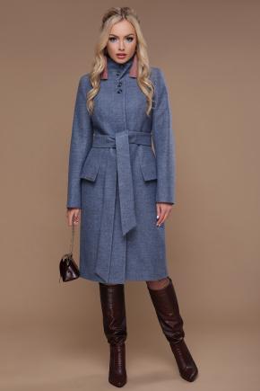 Пальто П-83. Цвет: голубой