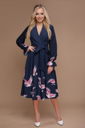 Аисты платье Ангелина д/р. Цвет: синий