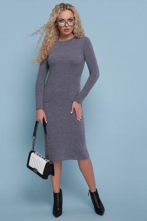 платье Габриела д/р. Цвет: серый