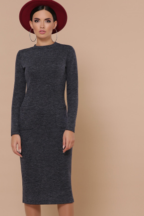 платье Габриела д/р. Цвет: синий
