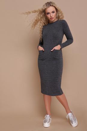 платье Габриела д/р. Цвет: темно серый