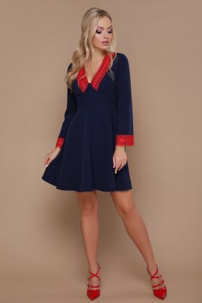 платье Нита д/р. Цвет: синий