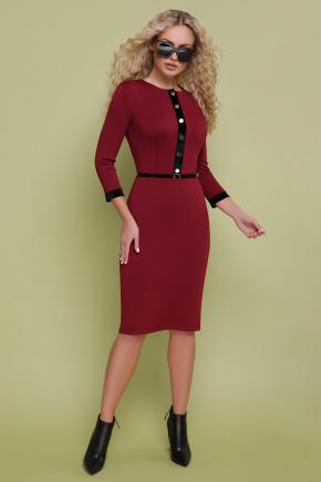 платье Ванесса д/р. Цвет: бордо