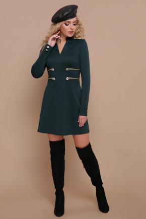 платье Ника д/р. Цвет: изумруд