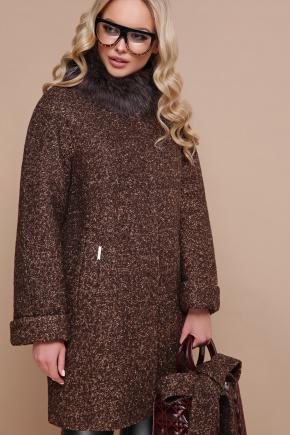 пальто П-302-85 зм. Цвет: 1224-коричневый