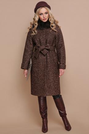 пальто П-302-100 зм. Цвет: 1224-коричневый