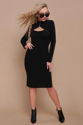 платье Альбина д/р. Цвет: черный