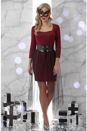 платье Аэлита д/р. Цвет: бордо
