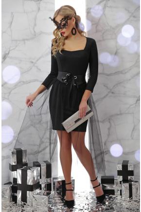 платье Аэлита д/р. Цвет: черный