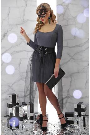 платье Аэлита д/р. Цвет: серый