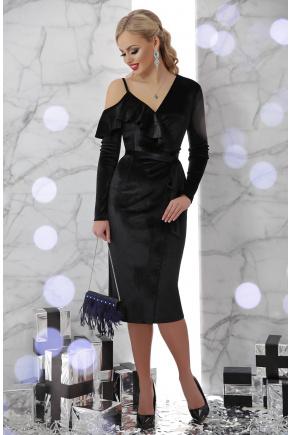платье Валерия д/р. Цвет: черный