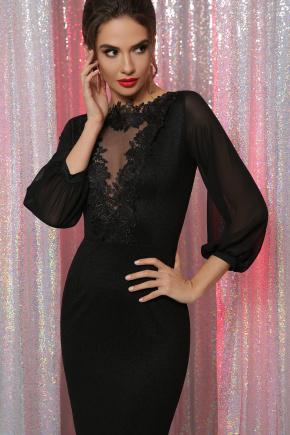 платье Бони д/р. Цвет: черный