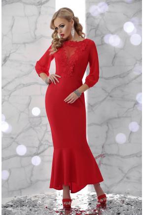 платье Бони д/р. Цвет: красный