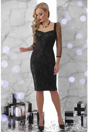 платье Памела д/р. Цвет: черный