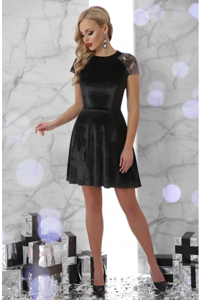 платье Диана к/р. Цвет: черный