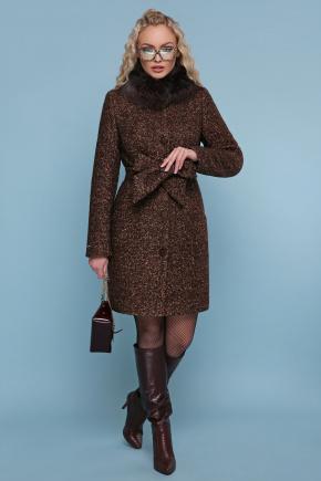 Пальто П-332 зм. Цвет: 1224-коричневый