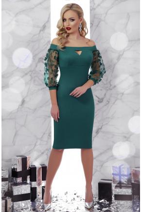 платье Розана д/р. Цвет: изумруд