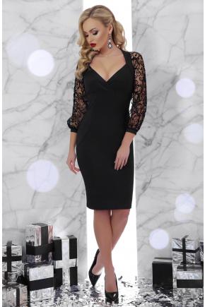 платье Флоренция д/р. Цвет: черный