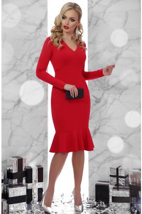 платье Василина д/р. Цвет: красный