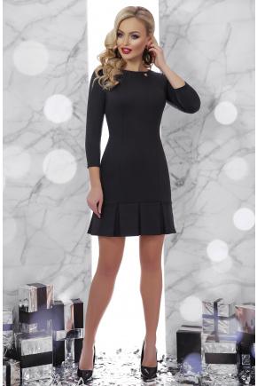платье Селена д/р. Цвет: черный