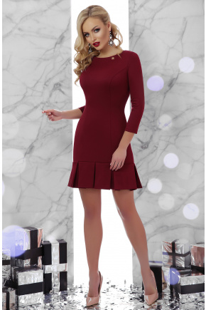 платье Селена д/р. Цвет: бордо
